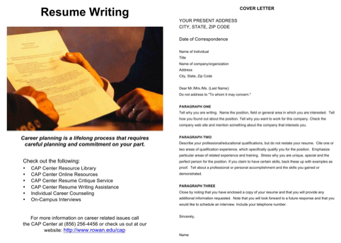 Resume Writing and Resume Checklist
