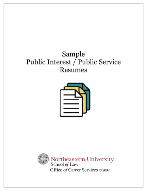 Sample Public Interest / Public Service Resumes