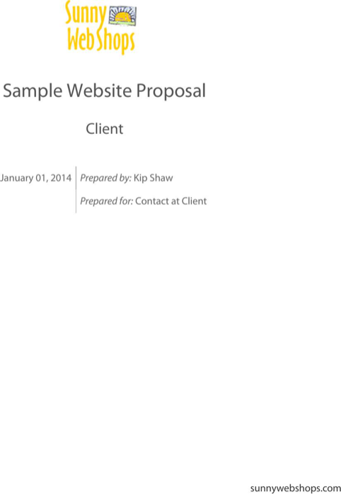 Sample Website Proposal