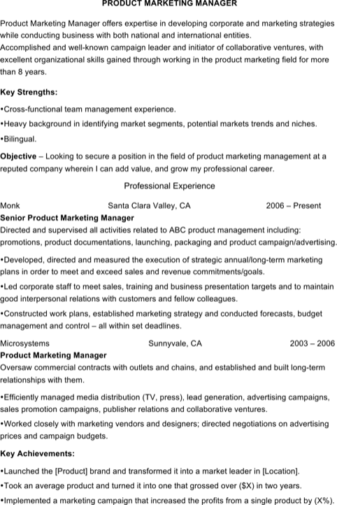 Senior Product Marketing Coordinator Resume