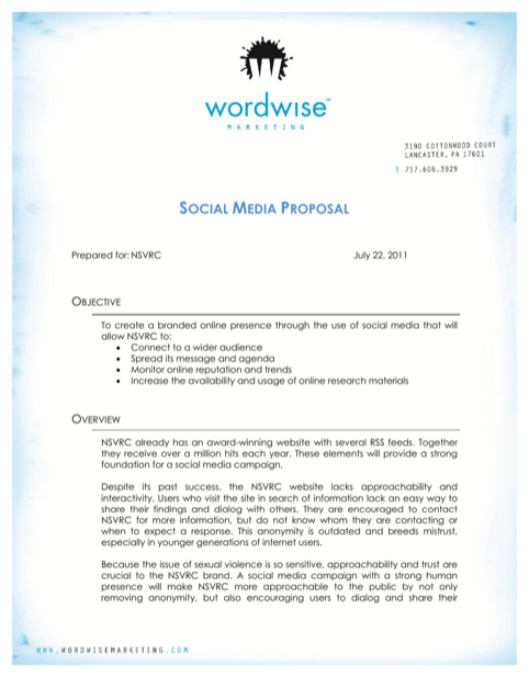 Social Media Marketing Proposal