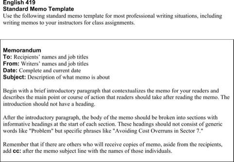 Formal Memo Template | Download Formal Memorandum Template For Free Formtemplate