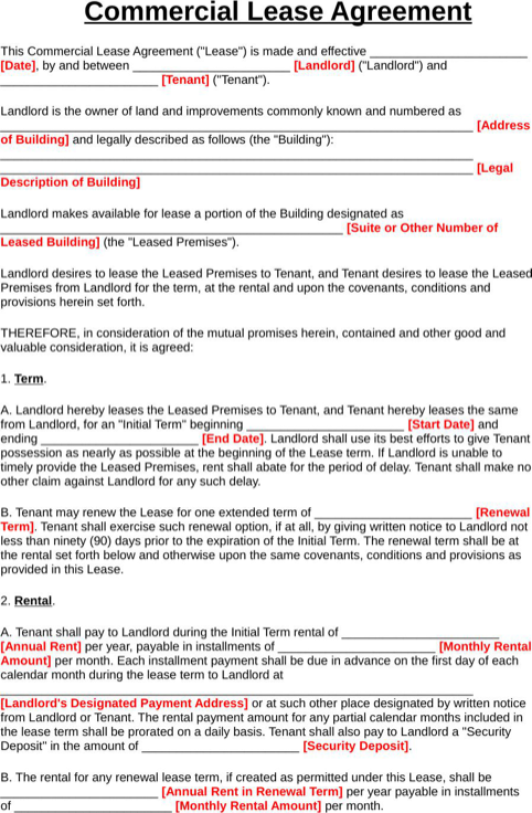 Download Texas Rental Agreement For Free Formtemplate