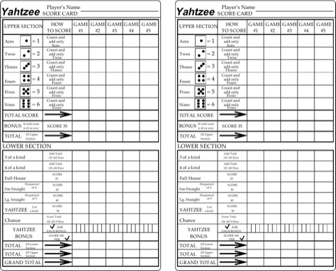 picture about Printable Yahtzee Score Sheets 2 Per Page named Obtain Yahtzee Rating Sheets for Absolutely free - FormTemplate