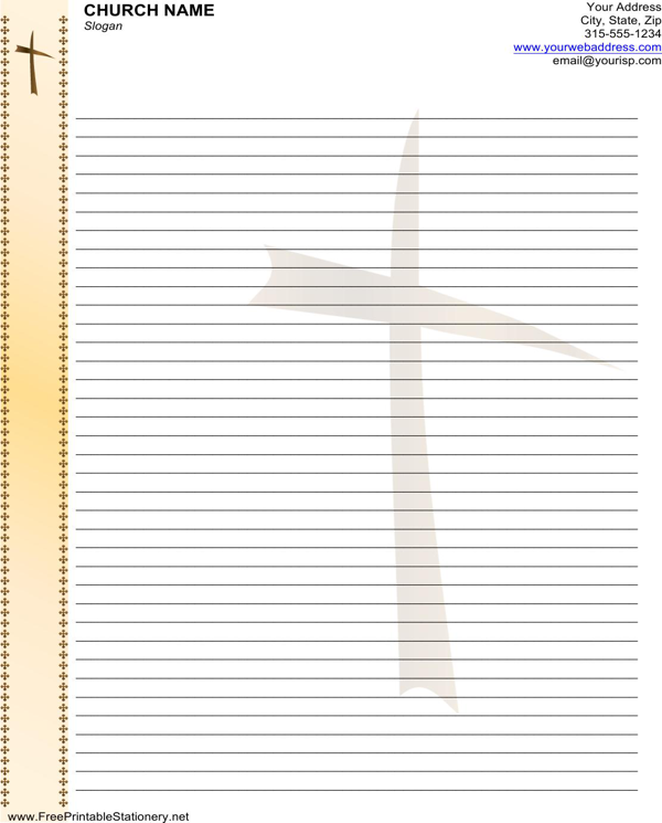 Church Letterhead Template