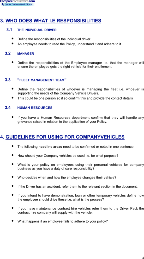 Download Company Vehicle Policy Template For Free Page 4