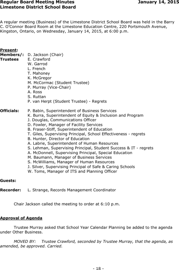 Download construction board meeting minutes template for for Trust minutes template