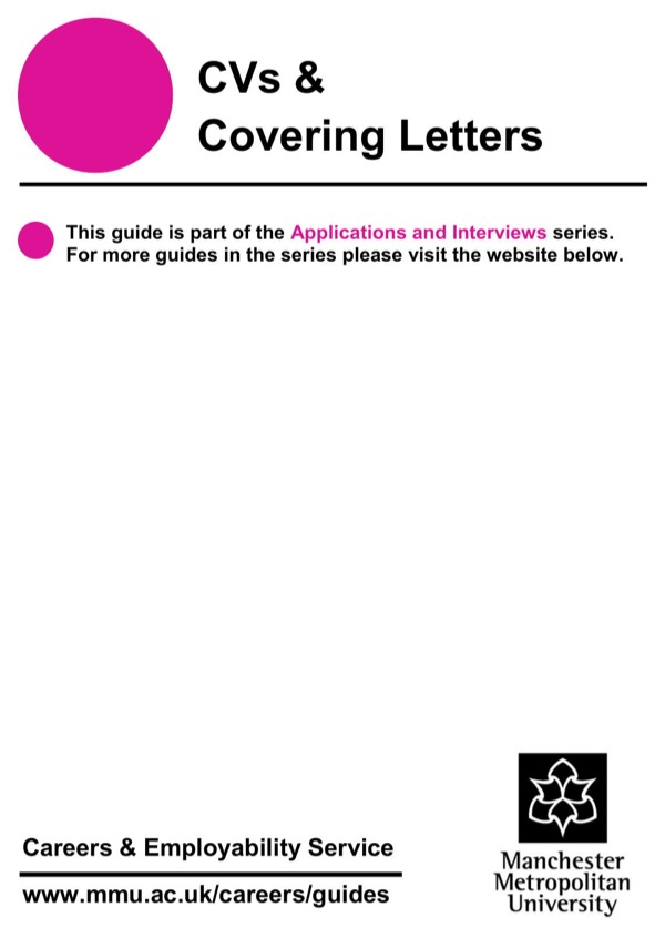 download cvs covering letters for free