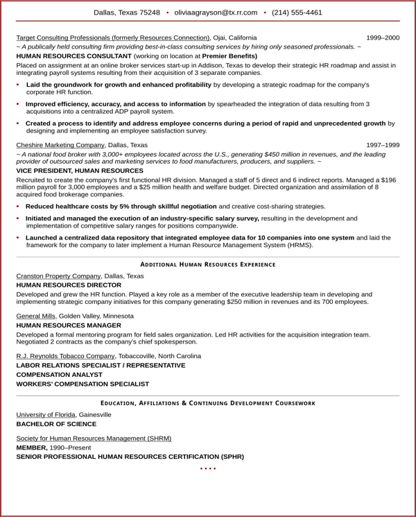 executive-resume-sample-for-hr-vp-2 Letter Of Application Yst on for work, examples for teachers, job vacancy, sample job, format for writing,