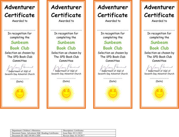 download reading club certificate template for free