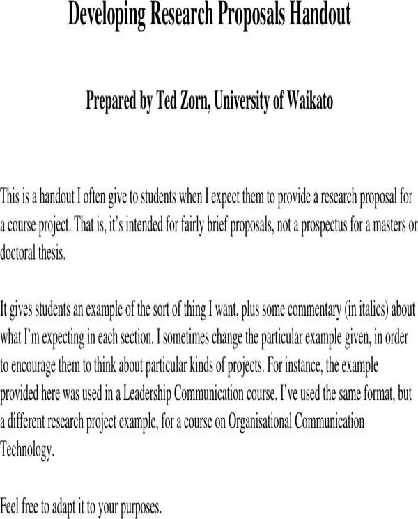 Download Research Proposal Example For Free