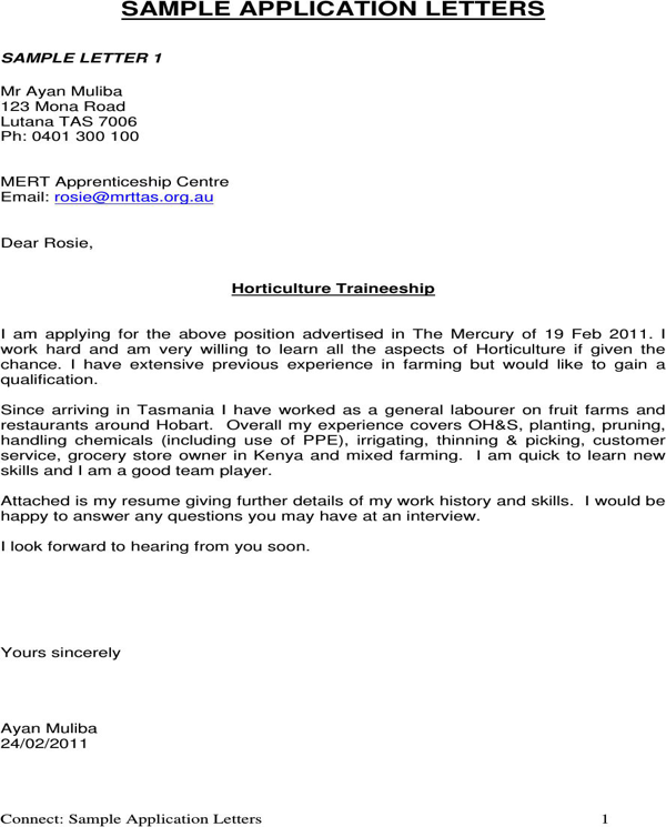 cover letter for ohs traineeship