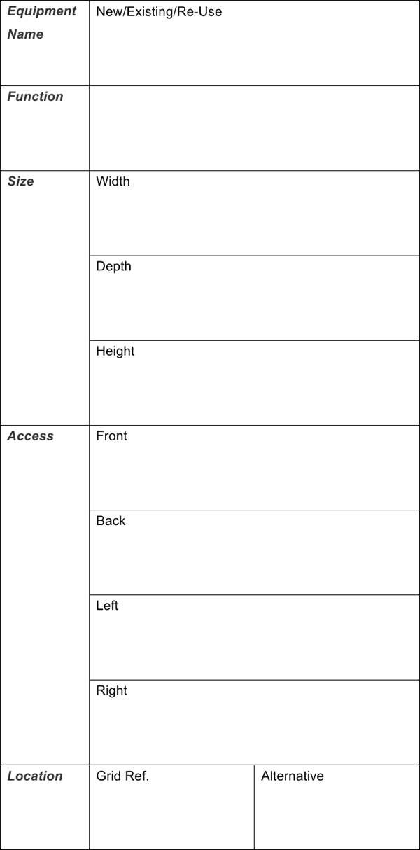 download sample room data sheet template free download for free
