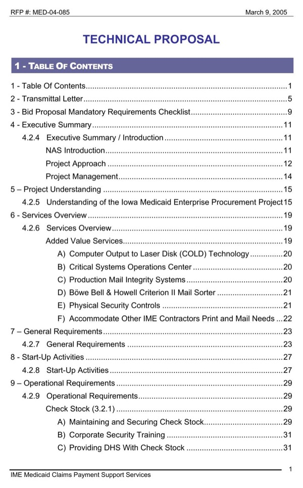 download technical proposal sample for free