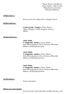Profile Resume Template